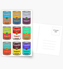 Andy Warhol Campbell's soup cans Postcards