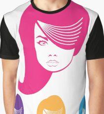Model Hair Graphic T-Shirt
