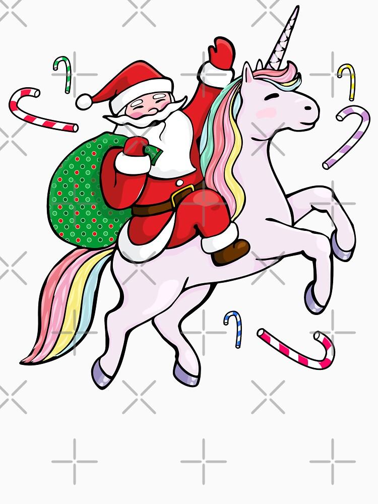 Santa Riding ein Einhorn von zeno27