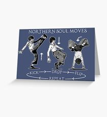 NORTHERN SOUL FUNKY MUSIC DANCE MOVES Greeting Card