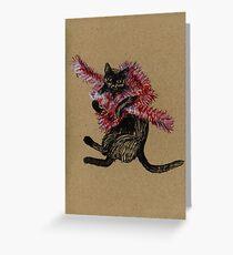 Cat <3 Tinsel Greeting Card