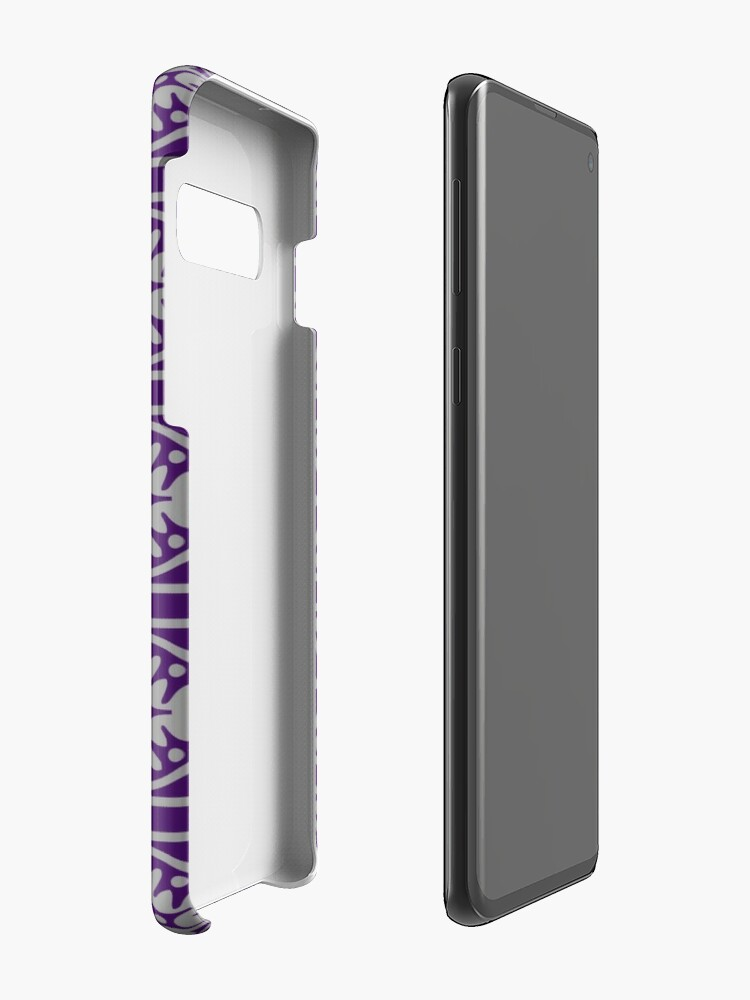 Alternate view of Floral Tile Purple and Grey Repeat Seamless Pattern Case & Skin for Samsung Galaxy