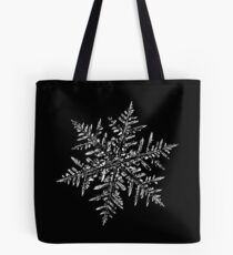 Snowflake vector - Silverware black Tote Bag