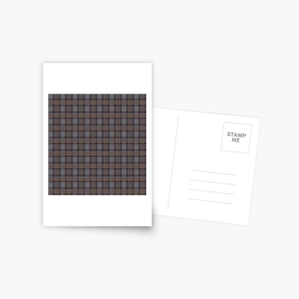 outlander tartan - fraser tartan Postcard