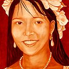 """Maribel"" original signed acrylic portrait painting on canvas by Michael Arnold"