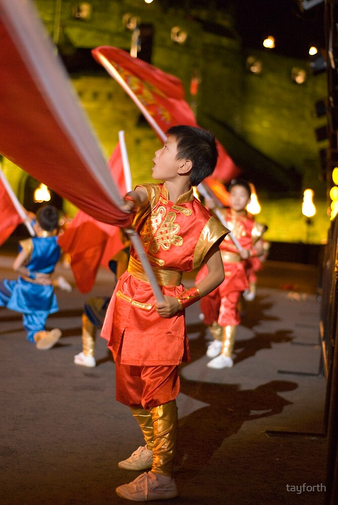 Chinese Martial Arts school at the Edinburgh Tattoo by tayforth