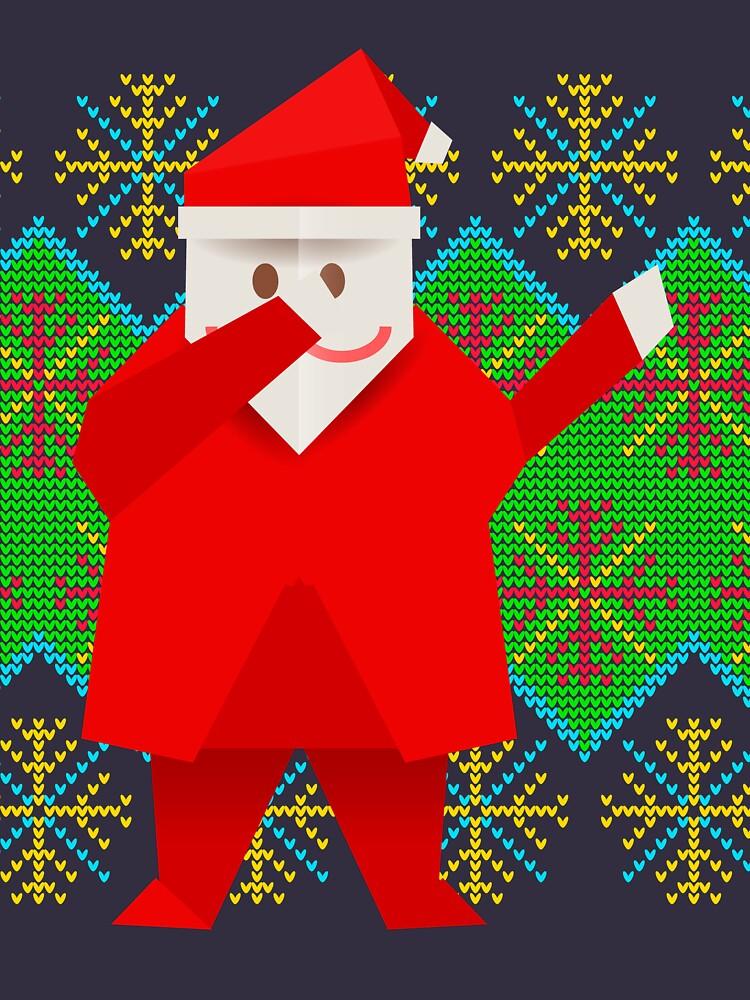 Dabbing santa origami Dabbing santa hats by bestdesign4u