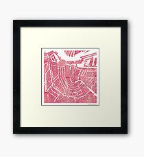 Histology Cities - Amsterdam Framed Print