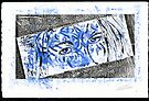 Mirror Or Mask Monoprint 1 by Stephen Haning