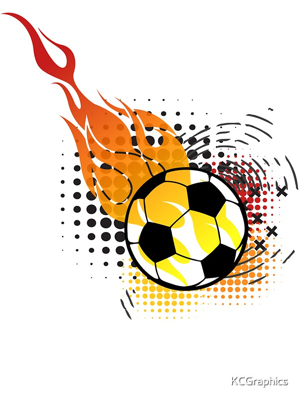 Quot Soccer Fire Ball Quot Stickers By Kcgraphics Redbubble
