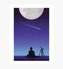 BTS Jimin Serendipity Landscape Art Print