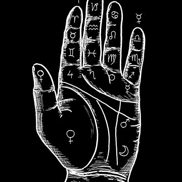 Palmistry in black by rosalaguna