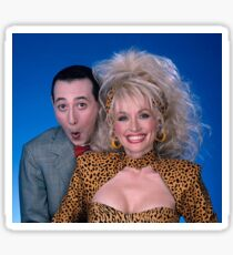 Dolly Parton Pee-Wee Herman Sticker