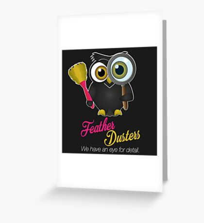 Feather Dusters Logo Greeting Card