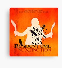 Resident Evil Extinction: square minimalist movie poster Canvas Print