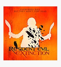 Resident Evil Extinction: square minimalist movie poster Photographic Print