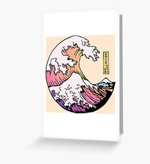 the great pastel wave Greeting Card