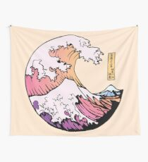 the great pastel wave Wall Tapestry
