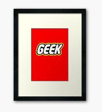 Lego Geek Framed Print
