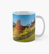 deep autumn sunny day in mountainous rural are Mug
