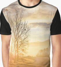 serpentine turnaround on foggy sunrise Graphic T-Shirt