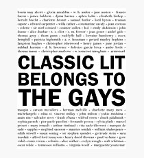 Classic Lit Belongs To The Gays Photographic Print