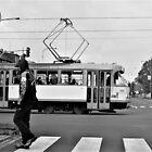 street scene tram and skull lad von Michael Hofmann