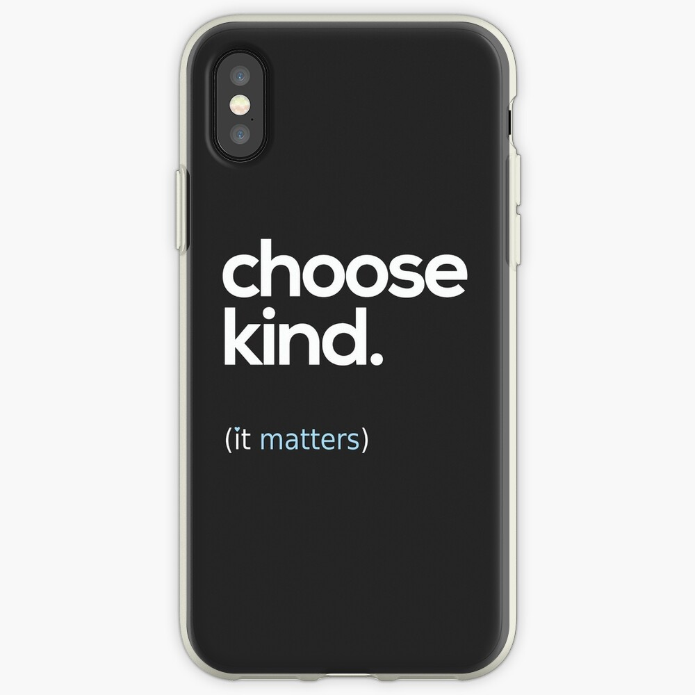 Choose Kind, Kindness Matters iPhone Cases & Covers