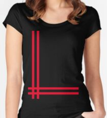 Telekon style Numan stripes Women's Fitted Scoop T-Shirt