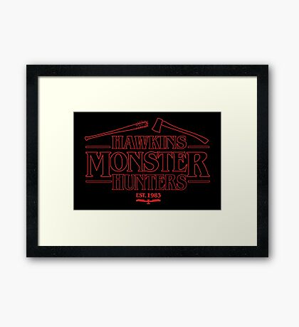Hawkins Monster Hunters Framed Print
