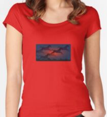Horse Sunset Women's Fitted Scoop T-Shirt