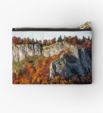 autumn forest on a rocky cliff Studio Pouch
