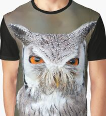 North White-Faced Owl Graphic T-Shirt