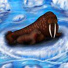 walrus and calf by StudioCorvid