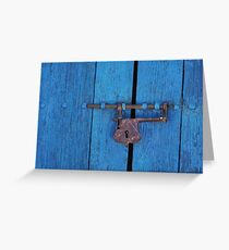 Old Lock on a Church Door Greeting Card