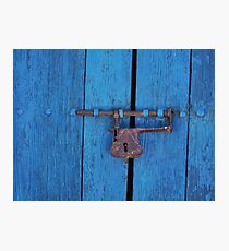 Old Lock on a Church Door Photographic Print
