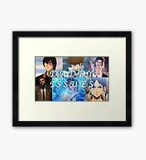 Anime/Video Game Characters with Daddy Issues Framed Print