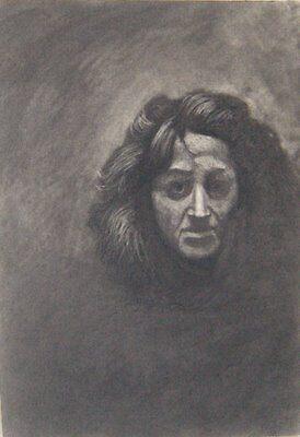Face, Tone study Conté by Alizarin