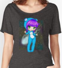 Chibi Girl in an Otter Sleeper Outfit Women's Relaxed Fit T-Shirt