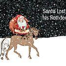 Santa Lost his Reindeer Christmas Card by Rosalie Scanlon