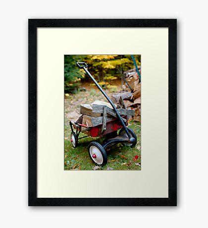 little red wagon Framed Print