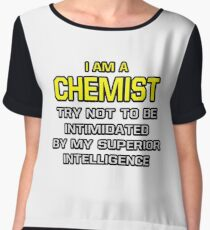 Funny Chemist .. Superior Intelligence Women's Chiffon Top