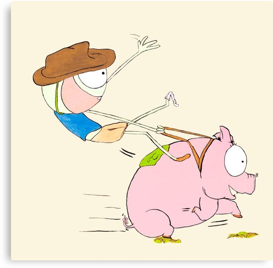Cowboy Joe befriend Mr.Piggy by MegRouje