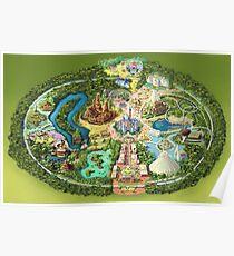 Disneyland Colorful Map Poster