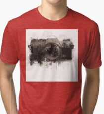retro camera  illustration / painting / drawing 2 Tri-blend T-Shirt