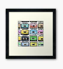 Retro Cassettes Framed Print