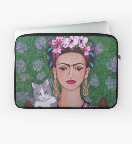 Frida cat lover - closer Laptop Sleeve