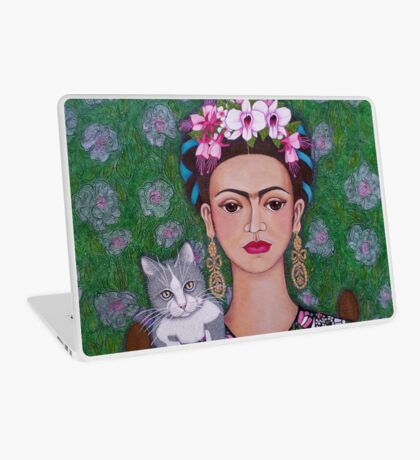 Frida cat lover - closer Laptop Skin