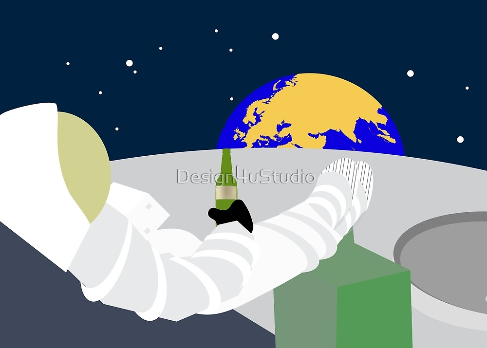 Relax on the moon by Design4uStudio