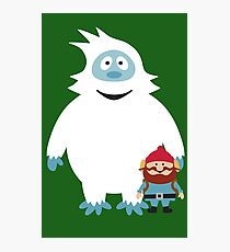 Abominable Snowman & Friend Photographic Print